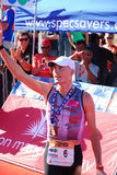 Triathlete Stephen Bayliss Stockfotos