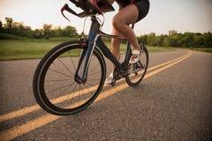 Triathlete-Trainingstag Lizenzfreie Stockfotos