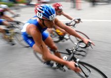 Triathlon 2008 del mondo Fotografia Stock