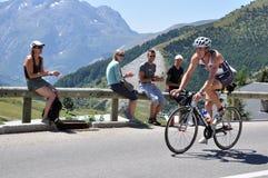 Triathlon 2009 del d'Huez de Alpe Fotos de archivo