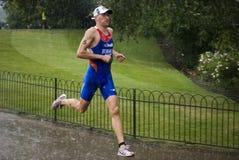 Triathlon 2011 - Alexandre Bryukhankov de Londres Photographie stock libre de droits