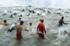 Triathlon 2012 de Praga fotos de stock