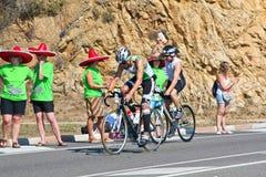 задействуя triathlon спортсмена Стоковые Фото
