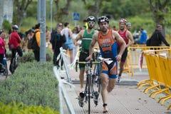 triathlon stock foto's