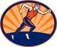 Triathlon athelte runner running Stock Photo