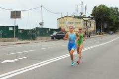 Triathlon athlete Royalty Free Stock Image