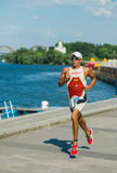 Triathlon athlete running Royalty Free Stock Image