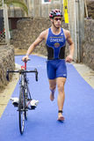 Triathlon Barcelona - Cycling Royalty Free Stock Photography