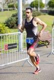 Triathlon Barcelona - laufend Stockbilder