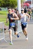Triathlon Barcelona - laufend Lizenzfreie Stockfotos
