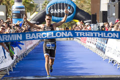 Triathlon Barcelona - Running Royalty Free Stock Image