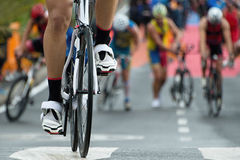 Triathlon bike. The transition zone Stock Image