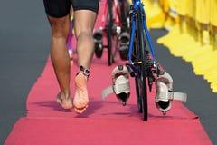 Triathlon bike. The transition zone Royalty Free Stock Image