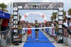 Triathlon Cesenatico 2017 foto de stock