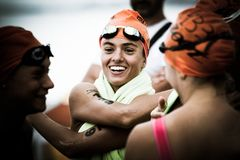 Triathlon Cesenatico 2017 imagem de stock royalty free
