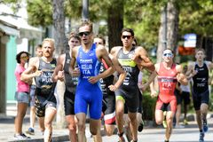 Triathlon Cesenatico 2017 royalty free stock photo