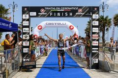 Triathlon Cesenatico 2017 stock photography