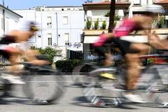 Triathlon Cesenatico 2017. CESENATICO, ITALIA - SEPTEMBER 09, 2017: Triathlon Cesenatico, more cyclists on the run stock photography