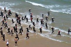 Triathlon Comillas (Espagne) Photos libres de droits