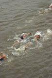 Triathlon contestants Royalty Free Stock Image