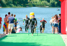 Triathlon Cup of Ukraine and Cup of Bila Tserkva. July 24, 2016 Royalty Free Stock Image