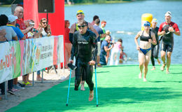 Triathlon Cup of Ukraine and Cup of Bila Tserkva. July 24, 2016 royalty free stock photography