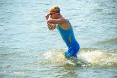 Triathlon Cup of Ukraine and Cup of Bila Tserkva. July 24, 2016 stock photography