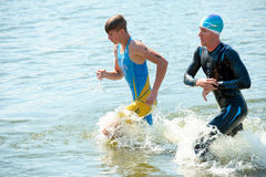 Triathlon Cup of Ukraine and Cup of Bila Tserkva. July 24, 2016 royalty free stock images