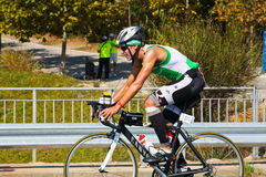 TRIATHLON CYCLING Royalty Free Stock Photo