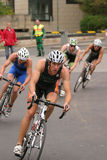 Triathlon cycling competition Royalty Free Stock Images