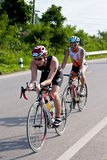 Triathlon cycling in Thailand Asia Royalty Free Stock Photos