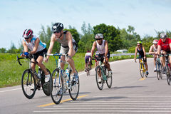 Triathlon cycling in Thailand Asia Stock Images