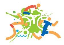 Triathlon cyclist runner swimmer. Royalty Free Stock Photo
