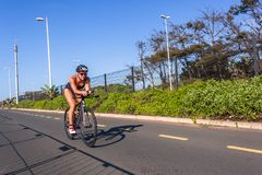 Triathlon Champs Athletes Woman Cycling Road Action