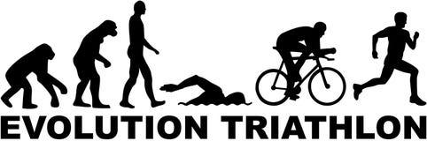 Triathlon da evolução ilustração do vetor