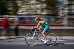 Triathlon de Avilés número 28 foto de archivo libre de regalías