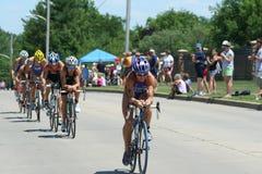 Triathlon de las mujeres Imagen de archivo libre de regalías