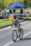 Triathlon de PONTEVEDRA, ESPAGNE - d'AUGDetail XVI Pontevedra de ville ? Pontevedra Espagne images libres de droits