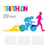 Triathlon de sport de bannière Images stock