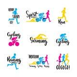 Triathlon de sport de logo Image libre de droits