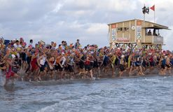 Triathlon de Tel Aviv Photos libres de droits