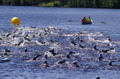Triathlon 30 de Vansbro 06 2018 Foto de archivo