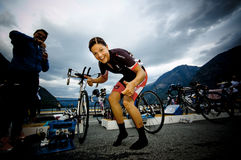 Triathlon de Xtreme del Norseman Fotos de archivo libres de regalías