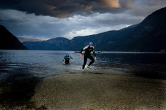 Triathlon de Xtreme do Norseman fotografia de stock royalty free