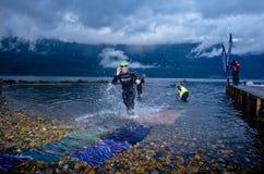 Triathlon de Xtreme do Norseman Imagem de Stock