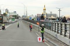 Triathlon della pista Fotografia Stock