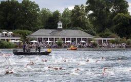 Triathlon di Londra Fotografia Stock