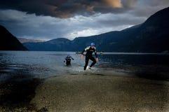 Triathlon di Xtreme del Norseman fotografia stock libera da diritti