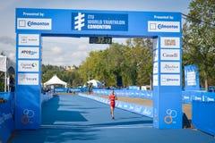 Triathlon Edmonton del mondo del ITU Fotografia Stock