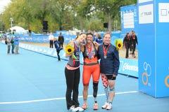 Triathlon Edmonton do mundo da UIT Imagens de Stock Royalty Free